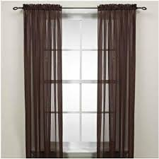 Gorgeous Home 2PCS BROWN COFFEE CHOCOLATE SOLID SOFT VOILE SHEER WINDOW CURTAIN PANELS ROD POCKETS DRAPES 54″ WIDE X 63″ LONG (EACH PANEL)