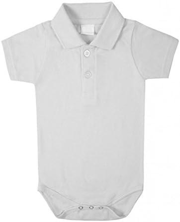 Blanco Body de manga corta Polo - sin marca de 0-3 m: Amazon.es: Bebé