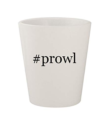 #prowl - Ceramic White Hashtag 1.5oz Shot - Energon Shot Hot