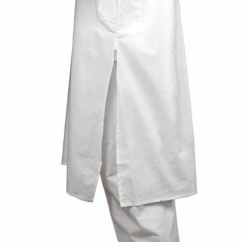 Handgemachtes weiß Kurta Pyjama Set aus Baumwolle für Herren - Traditionell chinesische Tracht - Perfekt für Sommeroutfit