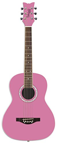 daisy-rock-debutante-jr-miss-acoustic-short-scale-bubblegum-pink-guitar
