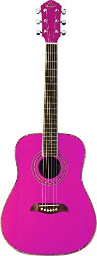 Oscar Schmidt 6 String OGHS 1/2 Size Dreadnought Acoustic Guitar. Pink (OGHSP-A)
