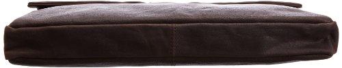 Bugatti Go West Collegemappe - Bolso de cuero unisex marrón - Braun (Braun braun)