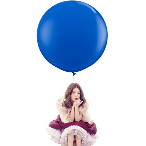36 Inch Big Round Balloons 5 Pack Royal Blue Thick Giant Balloons for Photo Shoot Wedding Baby Shower Birthday Party Decorations by IN-JOOYAA]()