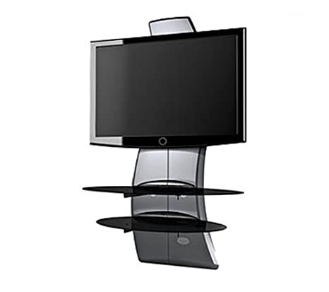 Meliconi Ghost Design 2000 Supporto Per Tv Lcd Al Plasma.Meliconi Supporto Mobile Per Tv Ghost Design 2000 Argento