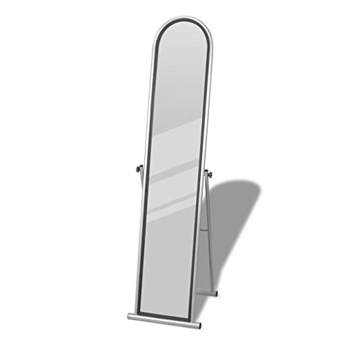 Chloe Rossetti Free Standing Floor Mirror Gray Rectangular Full Length Mirror size:4' 9'' x 9.6'' by Chloe Rossetti