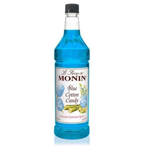Monin Blue Cotton Candy Syrup 1 ltr plastic bottle