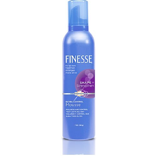Finesse Shape + Strenghten Extra Control Mousse, 7 Oz