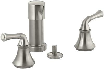KOHLER K-10279-4A-BN Forte Bidet Faucet with Traditional Lever Handles, Vibrant Brushed Nickel