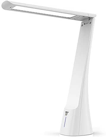 TaoTronics Light Therapy Lamp, 10000 Lux, 5500 K White Light & 9000 K Blue Light, 270° Rotatable Arm, 3 Adjustable Brightness Levels, 1 H Timer Setting, Compact Size