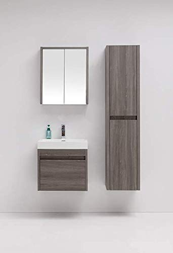 LB Laura Benasse Live The Design Labrador Wall Hung Bathroom Vanity - Acrylic Sink Floating Vanity, Contemporary Modern Design Vanity with Single & Double Sink ()