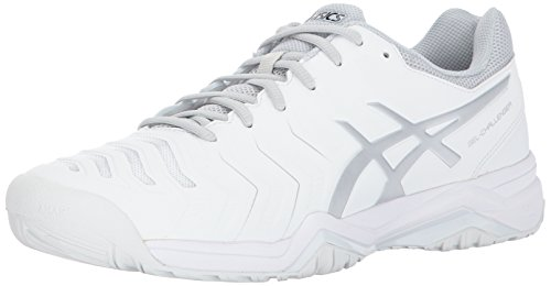 (ASICS Mens Gel-Challenger 11 Tennis Shoe, White/Silver, Medium US )