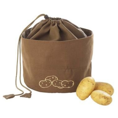 Lakeland Segeltuch Kartoffelbeutel, atmungsaktiv, braun, 24cm Ø x 21cm, für 3 kg