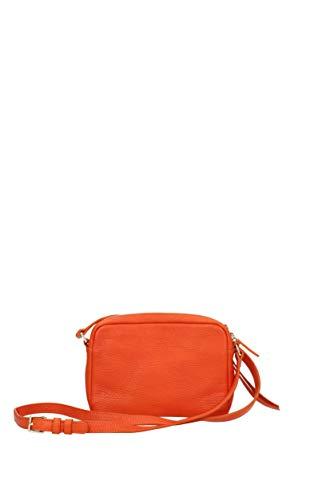 Piel bandolera con 52920 Mujer Lancaster Naranja Bolsos 0qxIw7nE6v
