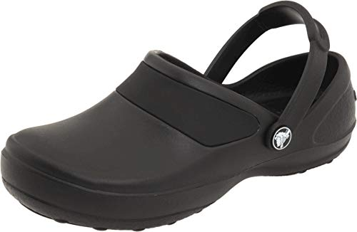 crocs Women's Mercy Clog, Black/Black, 8 M US (Crocs Women Flat Shoes)
