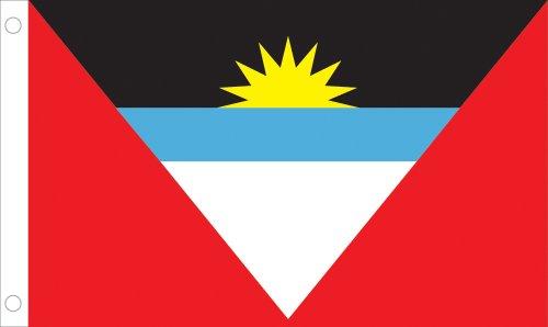 Allied Flag Outdoor Nylon Antigua and Barbuda United Nation Flag, 2-Feet by 3-Feet