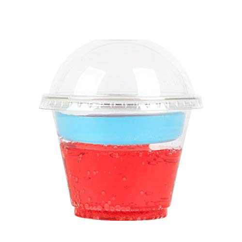 3 Snack Cups (GOLDEN APPLE, 9oz Parfait Cups with lids. 2oz Insert & Dome lid, Clear Cups 3-Piece. Dessert Cup, 50sets)