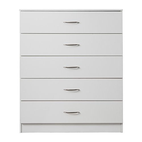 Laura James | Tall Chest of Drawers | 5 Drawer | Bedroom Furniture (WHITE)
