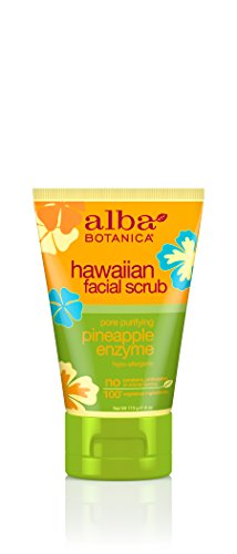 Alba Botanica Hawaiian, Pineapple Enzyme Facial Scrub, 4 Ounce (Pack of 2)