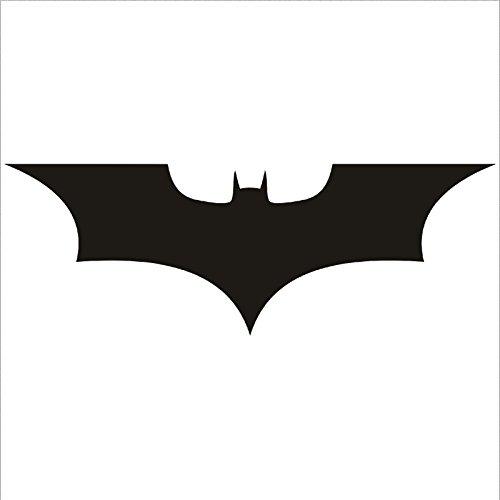3 x Batman Logo 80mmx46mm Crest Vinyl Sticker Wall Car Laptop Superhero Comic Book