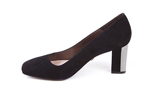 SALÓN LONDON Chapa SACHA 6 Zapato TACÓN Negro Ante DE 1AzqAfw