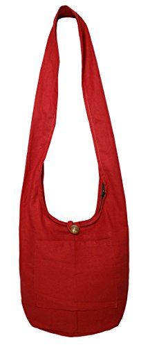 Lovely Creationss Hippie Boho New Elephant Crossbody Bohemian Gypsy Sling Shoulder BagSmall Size (S Red)
