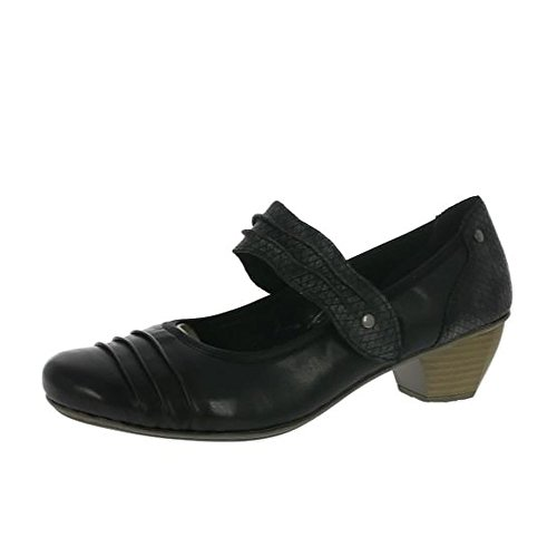 Rieker Stage Womens Court Shoes Black QVttZ03u4