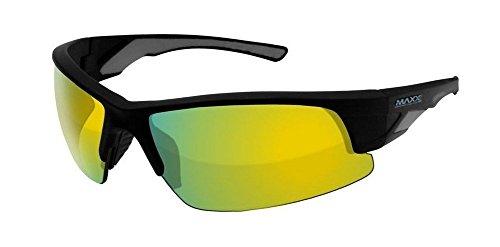 (MAXX Blue Platinum Series Half Frame Sunglasses All Sport MXBLUEPLAT4)