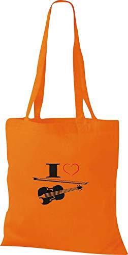 Tissu Orange En Violon Pochette Love I Shirtstown Alto Musique q8EPWA