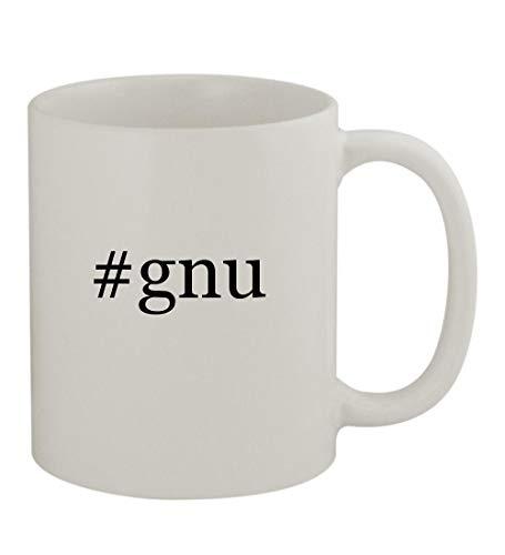 - #gnu - 11oz Sturdy Hashtag Ceramic Coffee Cup Mug, White