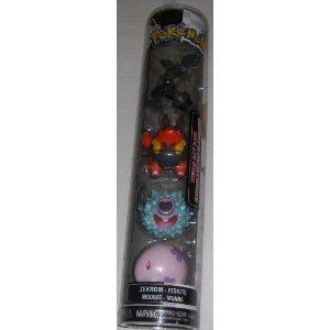Pokemon Black & White Value Gift Pack 4 Figure Set - Zekrom Pignite Woobat Munna by Game Freak