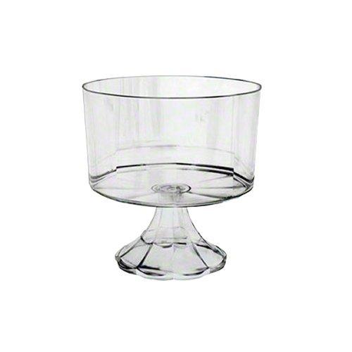 (EMI Yoshi EMI-ETBC-C Essentials Pedestal Trifle Bowl, 120 oz, Clear (Pack of 6))