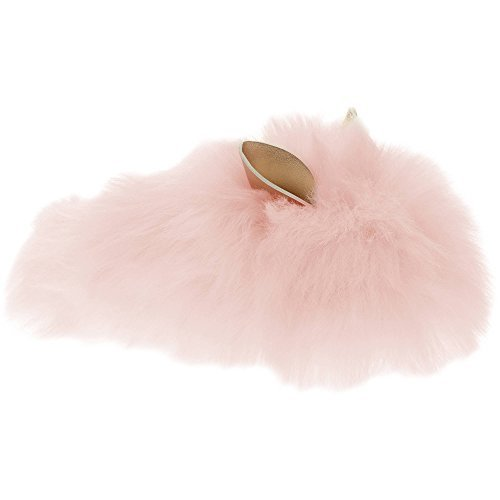 Girls Pink Furry Bunny Slippers (Small) 11/12