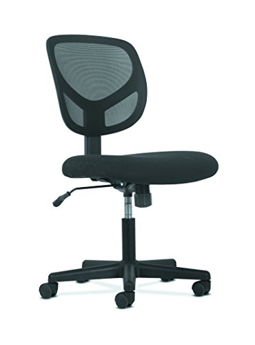 HON Sadie Swivel Mid Back Mesh Task Chair without Arms - Ergonomic Computer/Office Chair (HVST101) by HON
