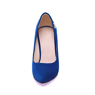 blue faux women's Cirior high high dress women's heels lace suede heels heels shoes x7nRWnp