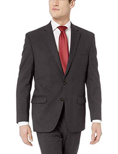 Chaps Men's All American Classic Fit Suit Separate Pant (Blazer and Pant), Charcoal, 44W x 30L