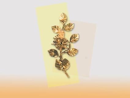 Applique in ferro battuto oro foglia rosa luce amazon casa