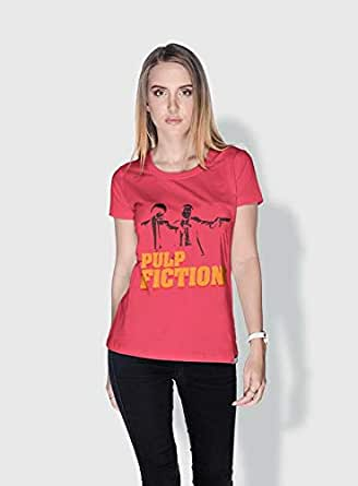 Creo Pulp Fiction Movie Posters T-Shirts For Women - L, Pink