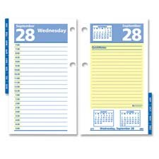 Ata Glance Daily (At-A-Glance Daily Calendar Refill, Quicknotes, 2PPD, 3-1/2