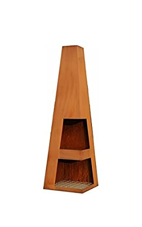 Sanga HomeAndGarden.UK-Telo di protezione per caminetto, 37 x 37 x 122 cm. Corten Greenlab