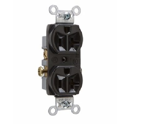 (P & S CR20-BK (10 Pack) Commercial Spec Grade Duplex Receptacle, 20A 125V, 5-20R, Black)