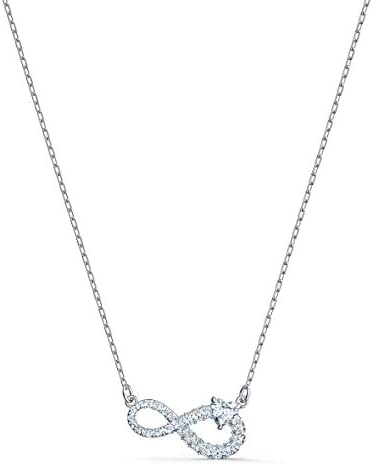 SWAROVSKI Women's Infinity Jewelry Collection, Rhodium Finish, Clear Crystals