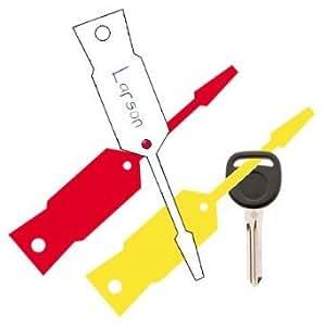 Auto Service Plastic Arrow Key Tags Yellow 1, 000/Box