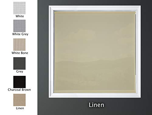 Luxr Blinds Custom-Made Solar Light Filtering Roller Window Shades 1%, 5% & 15% Transparency Indoor, Outdoor Size 72