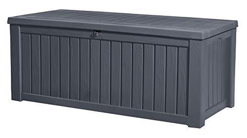 Keter Rockwood Cushion Storage Box Grey 570L