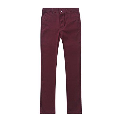 Deux Slim En Rouge Veste Fit Pantalon Et Costume D'affaire Vin Homme Cérémonie Pièce Mariage Costard P8ExFOnA