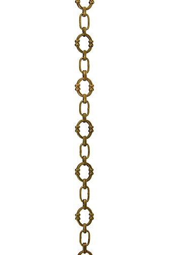 RCH Hardware CH-05-AB Solid Brass Chain for Hanging, Lighting Antique