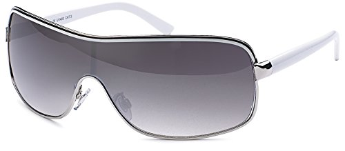 couleurs Lunettes différentes strass glamour design Argent et Blanc sonnenbrille monoscheibe de avec soleil wwq0C