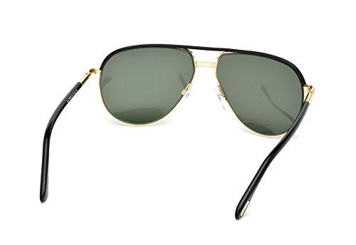 Tom Ford Lunettes de soleil 0285 Cole Pour Homme Black / Gold / Gradient Grey, 61mm 01J: Shiny Black / Light Gold