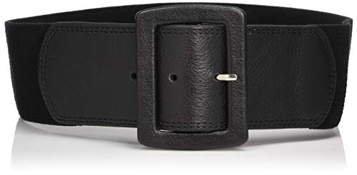 Calvin Klein Women's Linen Stretch Belt,Black,Small/Medium Calvin Klein Embossed Belt